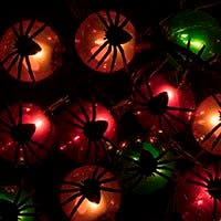 10 Count Spider Halloween String Light 11.5 feet