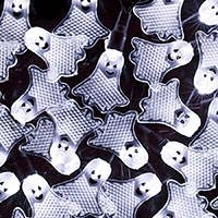 10 Count Crystal Flat Ghost Halloween String Light 11.5 Feet