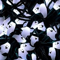 Monoprice 100 Count White Ghost Halloween String Light 51 ft