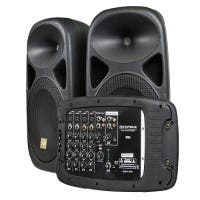 Stage Right by Monoprice 130-Watt 8-channel PA System with Two 10-inch Speakers (Open Box)