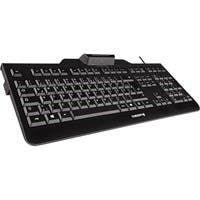 Cherry KC 1000 SC Keyboard - Cable Connectivity - White Box - USB Interface - 104 Key - English (US) - Black