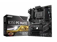 MSI B350 PC MATE AM4 AMD B350 SATA 6Gb/s USB 3.1 HDMI ATX AMD Motherboard