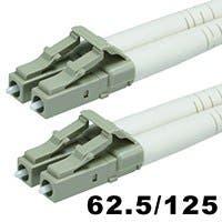 Monoprice Fiber Optic Cable - LC to LC, OM1, 62.5/125 Type, Multi Mode, Duplex, Orange, 5m
