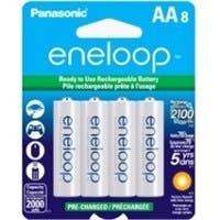 Panasonic eneloop Batteries (AA 8 Pk) - 2000 mAh - AA - 8 / Pack