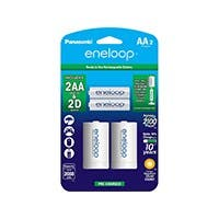 Panasonic Eneloop Genaral Purpose Battery - Nickel Metal Hydride (NiMH) - 1.2 V DC - 2 / Pack