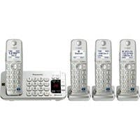 Panasonic Link2Cell KX-TGE274S DECT 6.0 1.90 GHz Cordless Phone - Silver - Cordless - 1 x Phone Line - 3 x Handset - Answering Machine - Hearing Aid Compatible - Backlight