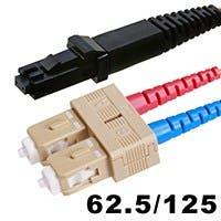 Fiber Optic Cable, MTRJ (Female)/SC, OM1, Multi Mode, Duplex - 1 meter (62.5/125 Type) - Orange