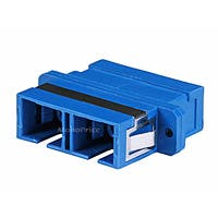 Monoprice Multimode SC/SC Duplex Fiber Optic Adapter, Plastic Body