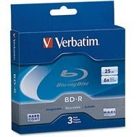 Verbatim BD-R 25GB 6X with Branded Surface - 3pk Jewel Case Box - TAA Compliant - 25GB - 120mm Standard - 3 Pack Jewel Case 26625