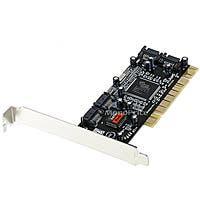 Monoprice 4-Port SATA Serial ATA PCI RAID Controller Card, Silicon Image