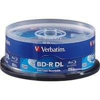 Verbatim BD-R DL 50GB 6X with Branded Surface - 25pk Spindle - TAA Compliant - 25pk Spindle 26720