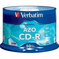 Verbatim CD-R 700MB 52X DataLifePlus with Branded Surface - 50pk Spindle - 120mm - 1.33 Hour Maximum Recording Time