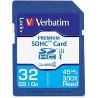 Verbatim 32GB Premium SDHC Memory Card, UHS-I Class 10 - TAA Compliant - Class 10 - 1 Card/1 Pack