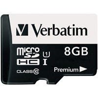 Verbatim 8GB Premium microSDHC Memory Card with Adapter, UHS-I Class 10 - TAA Compliant - Class 10 - 10MBps Read - 10MBps Write1 Pack