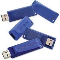 Verbatim 8GB USB Flash Drive - TAA Compliant - 8 GBUSB - Blue - 5 Pack