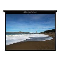 100-inch, 4:3 Matte White Fabric Motorized Projection Screen (Open Box)