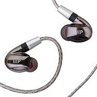 Monoprice MP80 Aluminum In-Ear Earphone Balanced Armature Driver and Dynamic Driver with Three Tuning Nozzles