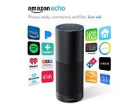 Amazon Echo black Portable bluetooth speaker Mic Wifi Alexa smart home