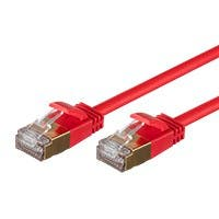 Monoprice SlimRun Cat6A Ethernet Patch Cable - Snagless RJ45, Stranded, S/STP, Pure Bare Copper Wire, 36AWG, 30ft, Red
