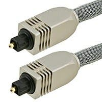 Premium S/PDIF (Toslink) Digital Optical Audio Cable, 50ft