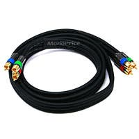 Monoprice 6ft 18AWG CL2 Premium 3-RCA Component Video Coaxial Cable (RG-6/U) - Black