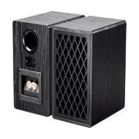 Monoprice Retro Bookshelf Speakers 4-inch 2-way Black (pair) (Open Box)