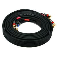 Monoprice 12ft 18AWG CL2 Premium 5-RCA Component Video/Audio Coaxial Cable (RG-6/U) - Black