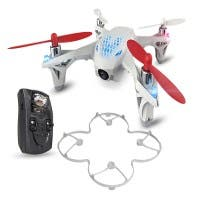 Hubsan X4 H107D: FPV Mini Quadcopter Drone with Live Video Feed Controller (Open Box)