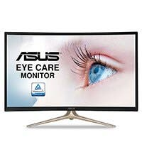 "ASUS Curved 31.5"" Full HD 1080P HDMI VGA Eye Care Monitor 31.5-Inch Screen LED-lit Monitor (VA327H)"