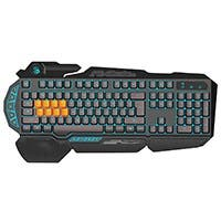 Bloody B318 8-Key Light Strike (LK) Semi Optical Mechanical Gaming Keyboard – 3 Color LED Backlit – 8 LK Black Switch