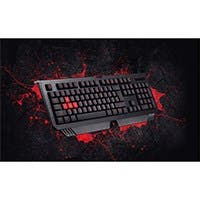 Bloody B120 Turbo Illuminated Gaming Keyboard, Double-Secured Water Resistant keyboard, Silicon Keys