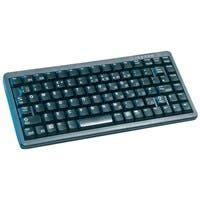 Cherry G84-4100 Ultraslim Keyboard - PS/2, USB - QWERTY - 86 Keys - Black