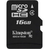 Kingston SDC4/16GBSP 16 GB microSDHC - 1 Card/1 Pack