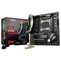MSI Performance Gaming Intel X299 LGA 2066 DDR4 USB 3.1 SLI Micro ATX Motherboard (X299M GAMING PRO CARBON AC)