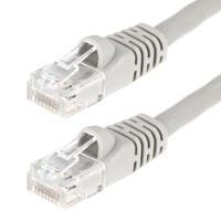 25FT 24AWG Cat5e 350MHz UTP Crossover Bare Copper Ethernet Network Cable - Gray