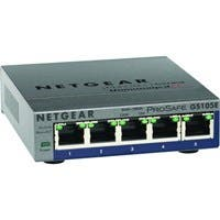 Netgear ProSafe Plus Switch, 5-Port Gigabit Ethernet - 5 Ports - 10/100/1000Base-T - 2 Layer Supported - Wall MountableLifetime Limited Warranty