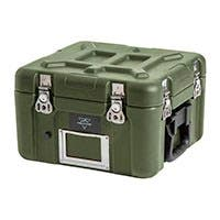 Pure Outdoor by Monoprice Stackable Rotomolded Weatherproof Case with Customizable Foam, 12 x 11 x 9 inches, Green