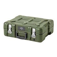 Pure Outdoor by Monoprice Stackable Rotomolded Weatherproof Case with Customizable Foam, 15 x 11 x 6 inches, Green