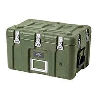 Pure Outdoor by Monoprice Stackable Rotomolded Weatherproof Case with Customizable Foam, 19 x 13 x 12 inches, Green