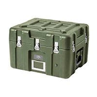 Pure Outdoor by Monoprice Stackable Rotomolded Weatherproof Case with Customizable Foam, 21 x 17 x 15 inches, Green