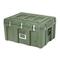 Pure Outdoor by Monoprice Stackable Rotomolded Weatherproof Case with Customizable Foam, 29 x 21 x 16 inches, Green