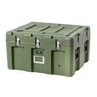 Pure Outdoor by Monoprice Stackable Rotomolded Weatherproof Case, 31 x 26 x 18 inches, Green