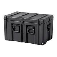 Pure Outdoor by Monoprice Stackable Rotomolded Weatherproof Case with Customizable Foam and Wheels, 30 x 18 x 18 inches, Black