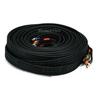 Monoprice 75ft 18AWG CL2 Premium 5-RCA Component Video/Audio Coaxial Cable (RG-6/U) - Black