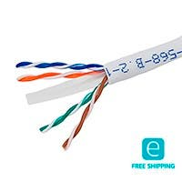 Monoprice Essentials 1000FT Cat6 Bulk Bare Copper Ethernet Network Cable UTP, Solid, Riser Rated (CMR), 500MHz, 23AWG, White (alternative is PID # 12787)