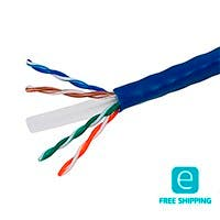 Monoprice Essentials 1000FT Cat6 Bulk Bare Copper Ethernet Network Cable UTP, Solid, Riser Rated (CMR), 500MHz, 23AWG, Blue