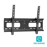 Monoprice Essentials Tilt TV Wall Mount Bracket - For TVs 37in to 70in, Max Weight 165lbs, VESA Patterns Up to 600x400, Works with Concrete & Brick, UL Certified