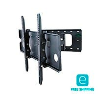 Monoprice Essentials Full-Motion Articulating TV Wall Mount Bracket - TVs 32in to 60in, Max Weight 125lbs, Extends from 5.0in to 26.5in, VESA Up to 770x480, Concrete & Brick