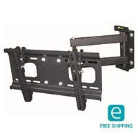 Monoprice Essentials Full-Motion Articulating TV Wall Mount Bracket - TVs 32in to 55in, Max Weight 88lbs, Extends from 3.8in to 18.7in, VESA Up to 400x200, Concrete & Brick