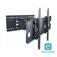 Monoprice Essentials Full-Motion Articulating TV Wall Mount Bracket - TVs 32in to 60in, Max Weight 175lbs, Extends from 5in to 20in, VESA Up to 750x450, Concre